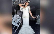 Toilet paper wedding dress!