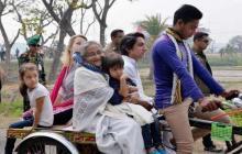 PM visits Tungipara village on rickshaw van