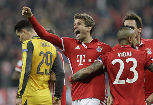 Bayern Munich routs Arsenal 5-1 to put foot in quarterfinals