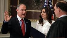 Climate doubter Pruitt takes EPA reins