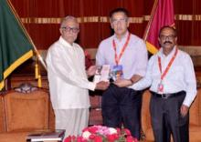 Books on Bangabandhu, family members handed over to President
