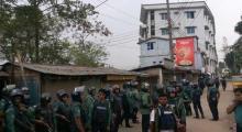 Law enforcers cordon suspected 'militant den' in Sylhet