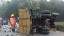 10 killed as cement-laden truck overturns in Mymensing