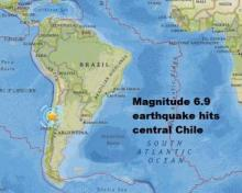 Central Chile hit by 6.9-magnitude quake