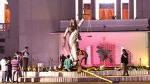 Statue of lady justice reinstalled in front of SC annex building