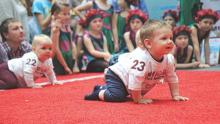Lithuania crowns fastest crawling toddler