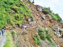Landslide may occur at places over hilly regions
