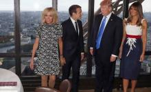Trump told Macron's wife 'you're in such good shape'