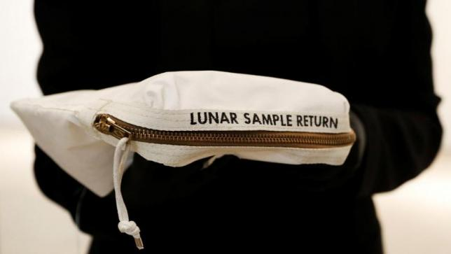 Neil Armstrong's moon bag at auction
