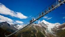 World's longest suspension footbridge opens in Switzerland