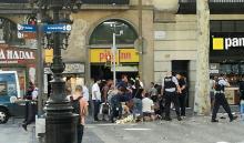 Van crashes into crowds in Barcelona, media say 13 killed