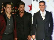 Shah Rukh, Salman, Akshay on Forbes highest paid actors list