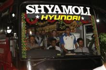 Bangladesh tightens security after rock hits Australian team bus