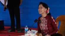 Myanmar's Aung San Suu Kyi denounces terrorists, silent on Rohingya exodus