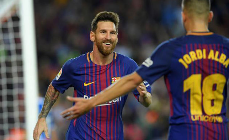 Messi claims hat-trick as Barcelona crush Espanyol