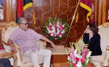 President seeks support of France to repatriate Rohingyas