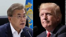 Moon, Trump vow stronger pressure against N. Korea
