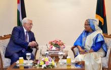 Hasina-Mahmoud Abbas discuss Rohingya issues