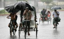 Met office forecast light to moderate rain