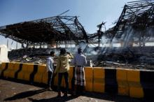 Saudi-led coalition carries out air strikes on Yemen