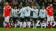 Sergio Aguero takes Argentina win over Russia