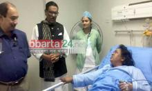 Quader visits Ivy at hospital
