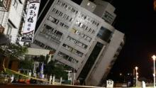 Rescuers scour toppled buildings after Taiwan quake kills five