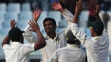 2nd Test: Razzak takes out Karunaratne early on dry surface