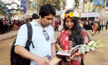 Valentine's Day adds colour to book fair