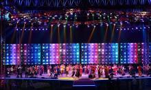 PM enjoys cultural show at Bangabandhu Stadium