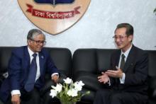 North Korean Ambassador meets DU VC
