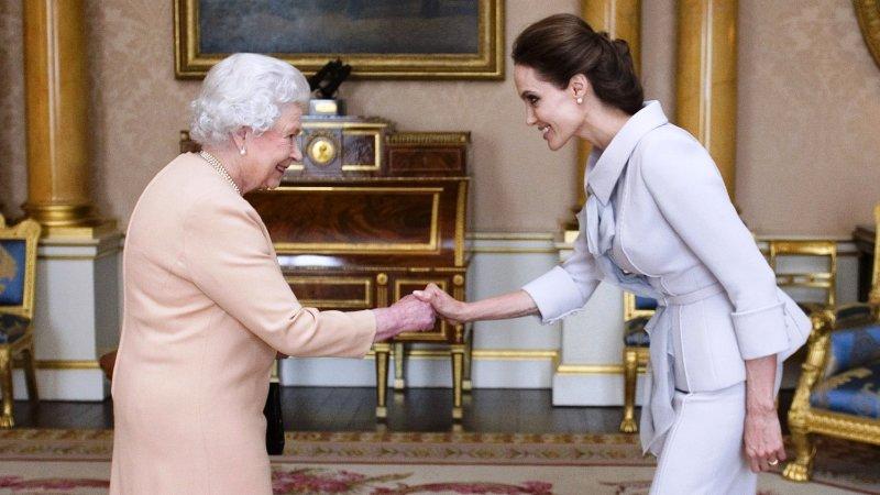 Angelina Jolie inspired by Queen Elizabeth II