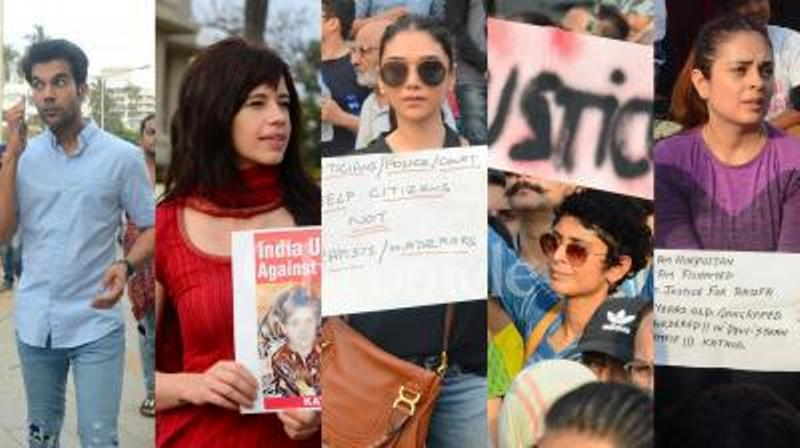 Bollywood stars Akshay Kumar, Kalki Koechlin seek justice for Kathua, Unnao victims