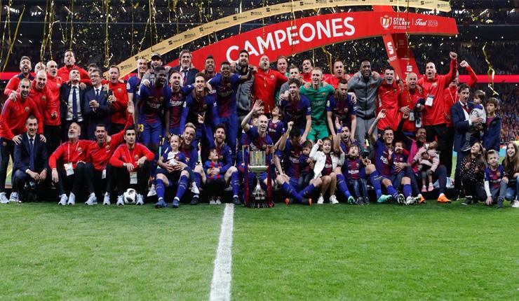 Messi, Suarez inspire Barca to win 30th Copa del Rey