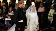 Royalty and celebrities look on as Harry and Meghan marry
