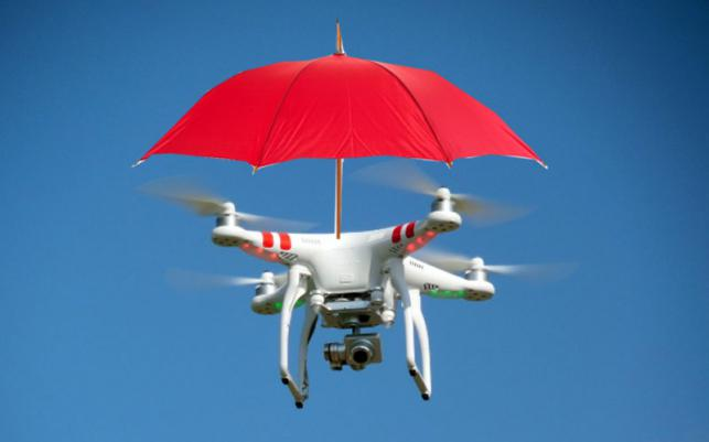 Japan drone promises hands-free umbrella