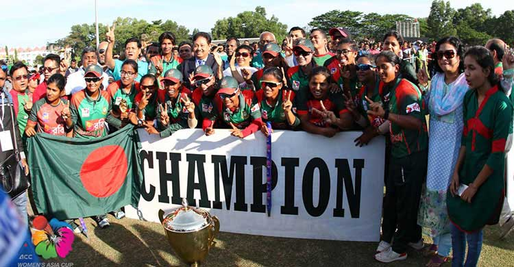 Asia Cup winning team awarded Tk 2 crore