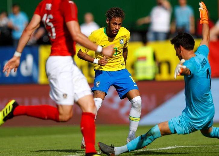 Neymar goal caps impressive Brazil win over Austria