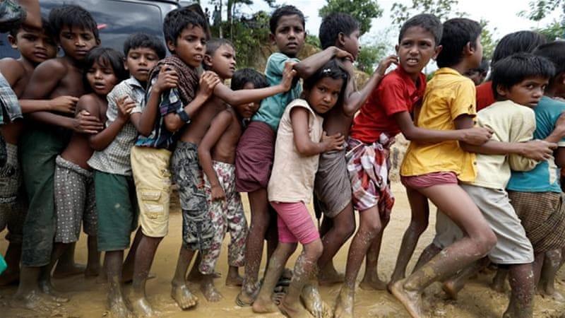 Monsoon rains raising risks for Rohingya children