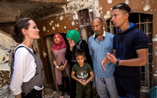 Jolie as UNHCR envoy visits war-ravaged Mosul