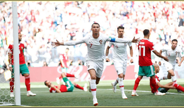 Ronaldo strike eliminates Morocco