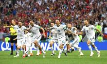 Russia knock Spain out