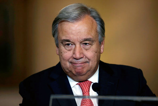Guterres for strong int'l pressure on Myanmar to take back Rohingyas