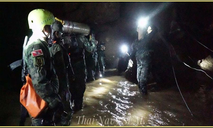 Eight of 13 young footballers rescued from Thai cave: Navy SEALs