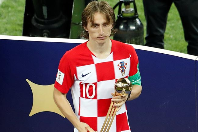 Modric wins Golden Ball