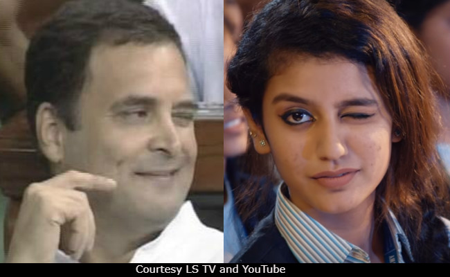 Rahul Gandhi's viral wink reminds twitter of Priya Prakash Varrier