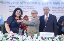 Runa Laila receives Firoza Begum Gold Medal