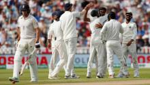 England slump in final session of day 1