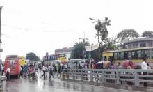 Vehicular movement resumes in city