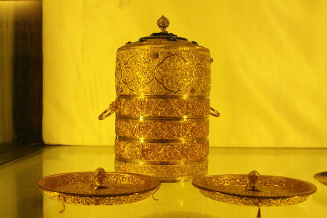 Nizam's golden lunch box, cup stolen from museum